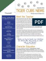 tiger cubs news - september 2015