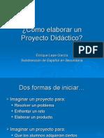 Cómo Elaborar Un Proyecto Didáctico