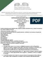 PARADISO and CAMPANELLI v. ITALY - [Italian Translation] by the Italian Ministry of Justice