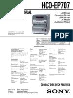 Manual servicio Sony HCD-EP707