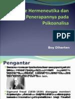 Metode Hermeneutika Dan Penerapannya Pada Psikoanalisa