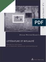 Littérature Et Ritualité_Intro