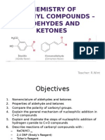 Chemistry of Carbonyl Compounds –