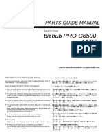 Bizhub Proc 6500 Parts Manual
