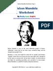 Worksheet Nelson Mandela english