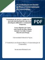 Transmissao de Precos e Analise Da Volatilidade No Mercado Internacional Da Soja