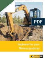 Material Implementos Herramientas Accesorios Acoplamientos Miniexcavadoras Caterpillar
