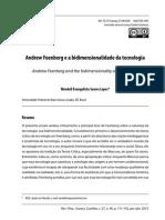 19. Andrew Feenberg e a Bidimensionalidade Da Tecnologia