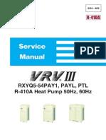 Especificaciones Condensadoras_rxyq5-54pay1, Payl, Ptl-daikin