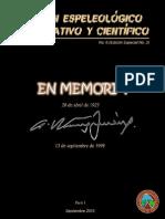 Boletín Espeleológico Informativo y Científico No.6 (Edición Especial No.3) Parte I