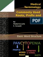 Medical Terminology2-Roots, Prefix and Sufiix 2003