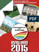 Programma Elettorale Centrosinistra Per Avigliano-Comunali 2010