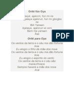 Orìkí Fún Oya