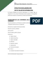 Instructivo Para La Elaboración Proyecto Taller de Integración 2015
