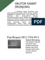 Agen Kawat Bronjong, Jual Bronjong, Jual Bronjong Kawat, Fast Respon 0812.3394.8911