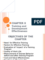 Training and Development Effectiveness P