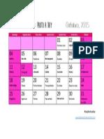 Calendário - Outubro 2015 - Aophotoaday