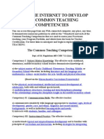 Common Teaching Competencies