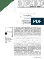 A Ciência Em Ação - Seguindo Bruno Latour