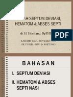 Septum Nasi, Hematom,'n Abses Septi