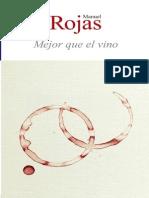 Rojas, Manuel - Mejor Que El Vino