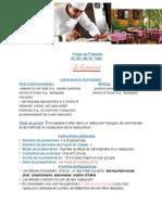 Projet Du Restaurant - 2015