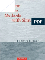 Discrete Choice Method With Simulation - Train (Cambridge 2nd 2003)