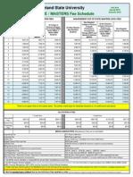 Fiscal 2016 GRADUATE Fee Schedule