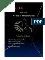 Unidad 5 Modelo de Implementacion
