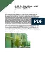 Jual Rumah Di BSD City Harga 800 Juta – Sangat Strategis – Harga Murah - www.beatmakers.net