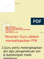 8. Peranan Guru & Implikasi FPK & FPG
