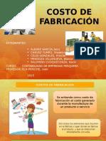Costo de Fabricacion