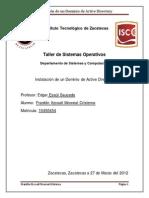 Instalacion y Configuracion de Active Directory Domain