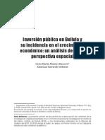 inversion publica en bolivia y su incidencia en el crecimiento economico