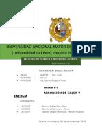 Informe N°2 - Laboratorio de Quimica General II