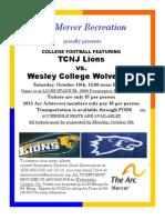 TCNJ Football Flyer