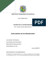 Antecedentes de Los Biomateriales (1)