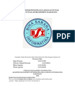 Analisa Sistem Penyewaan Lapangan Futsal