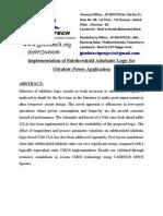 Implementation of Subthreshold Adiabatic Logic for Ultralow-Power Application