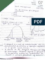 Project management hand written notes