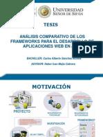 3 Análisis Comparativo de Los Frameworks