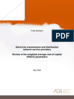 AER Final Decision - Review of Electricity Transmission and Distribution WACC Parameters - 1 May 2009
