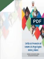 Caratula prevencion para el consumo de drogas  y ahlcol