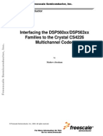 Interfacing the DSP560xx_DSP563xx. Families to the Crystal CS4226