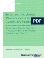 Lachmann_paratext, Genetic Criticism