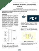 Atmega 328 Based Menu Ordering System Using Zigbee