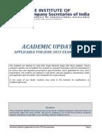 Academic Updates 2015 Examination 23-03-2015