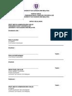 Format Kertas Kerja Untuk Kelulusan Pengarah