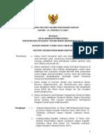 Permenpera 15 2007 Pembentukan PPRS
