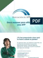 Doce Razones Para Afiliarse a Una AFP